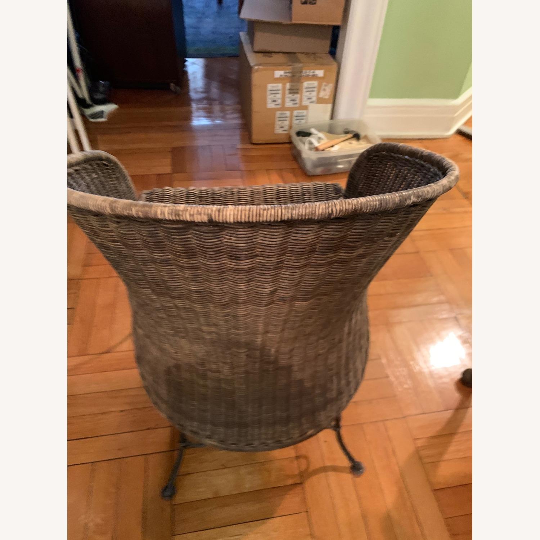 Vintage Wicker Armchair - image-7