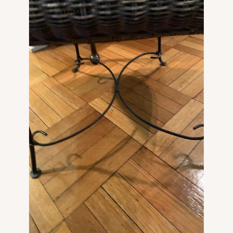 Vintage Wicker Armchair - image-6