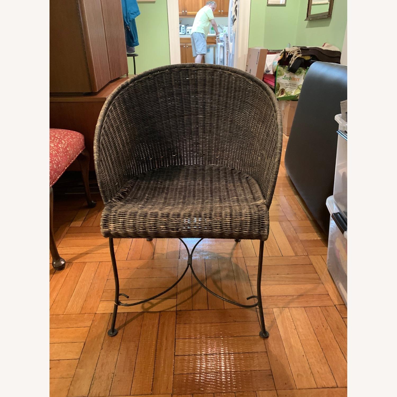 Vintage Wicker Armchair - image-1