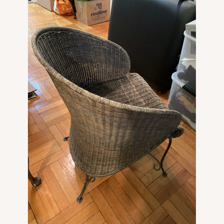 Vintage Wicker Armchair - image-3
