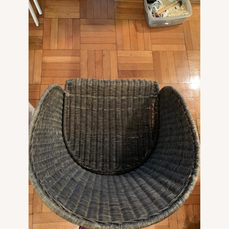 Vintage Wicker Armchair - image-5