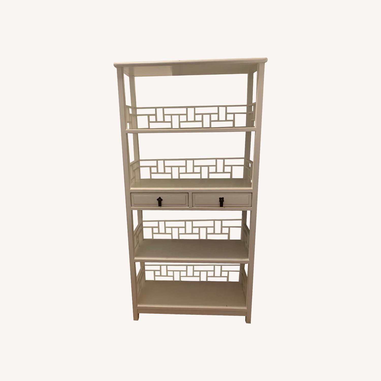 White Wooden Antique Style Bookshelf - image-0