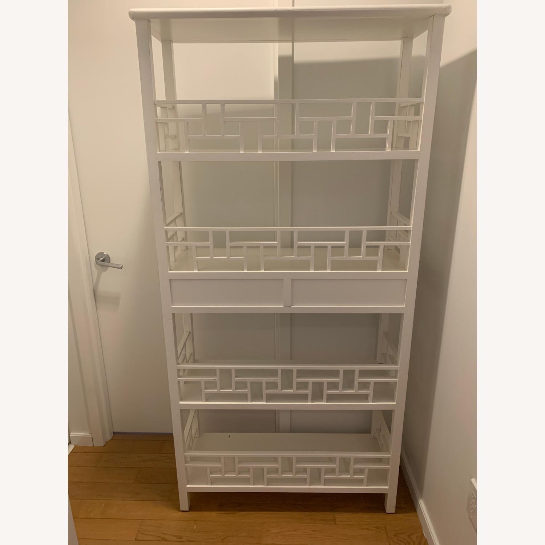 White Wooden Antique Style Bookshelf - image-10