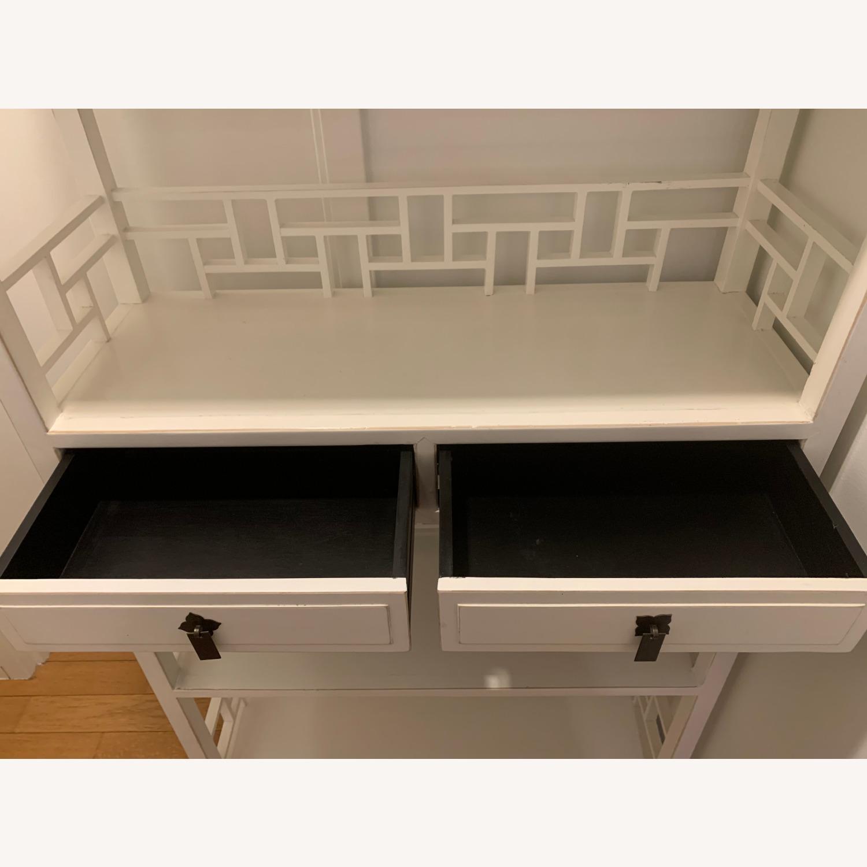 White Wooden Antique Style Bookshelf - image-7