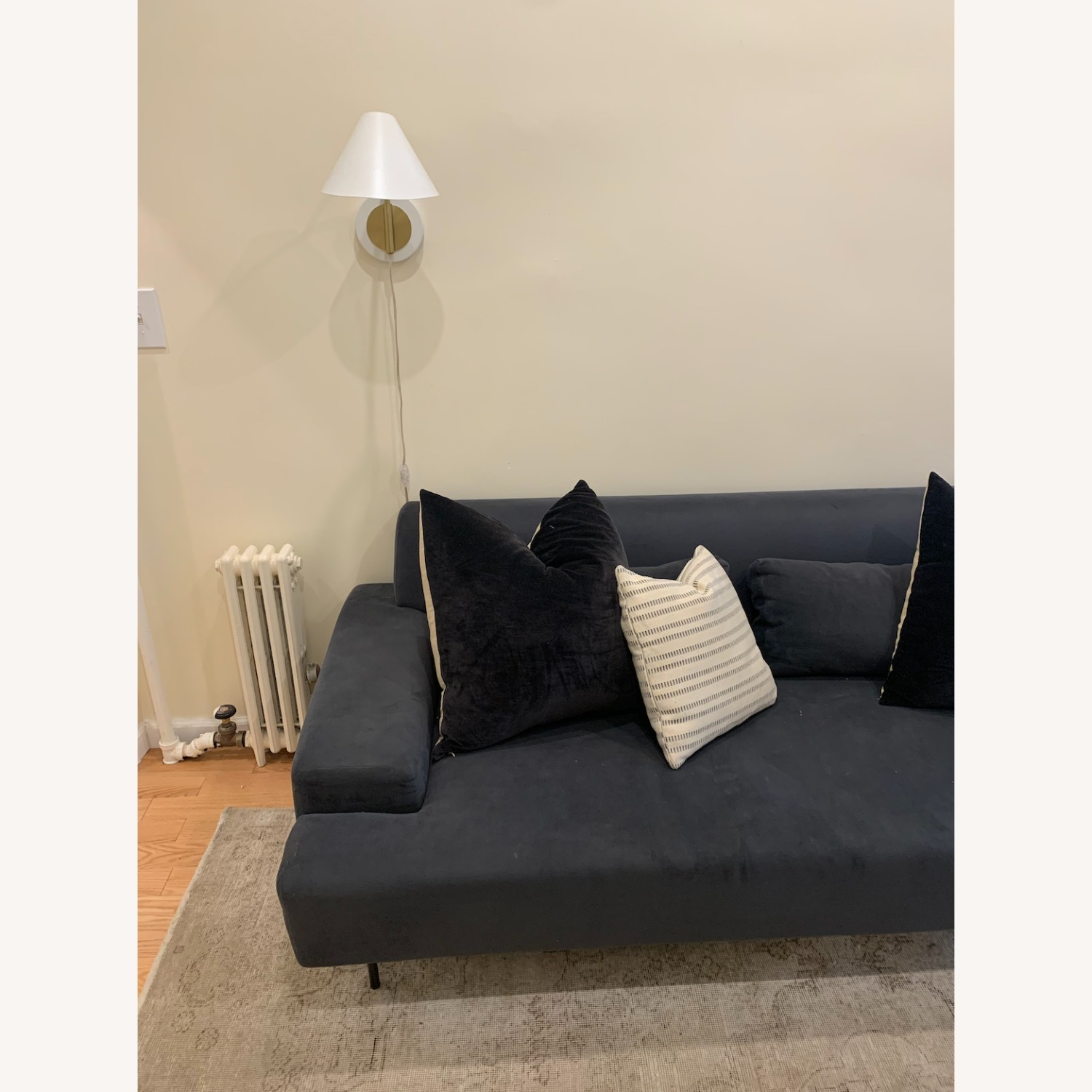 West Elm Beckham Sofa in Midnight Velvet - image-3