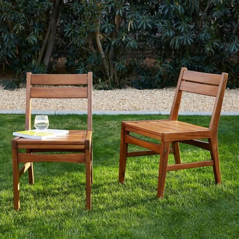 West Elm Indoor/Outdoor Chairs (set of 2) - image-1