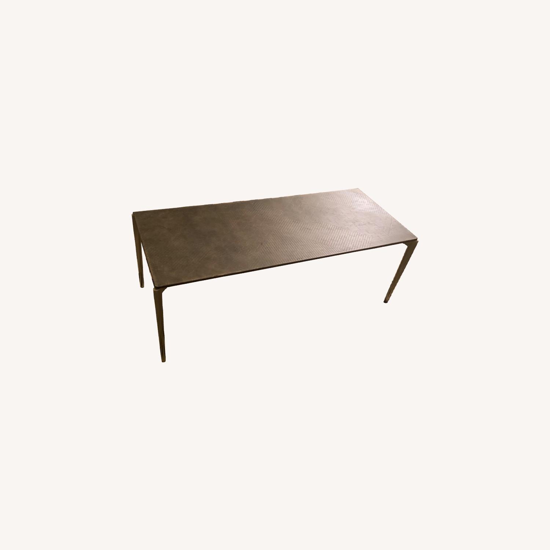 West Elm Bronze Coffee Table - image-0