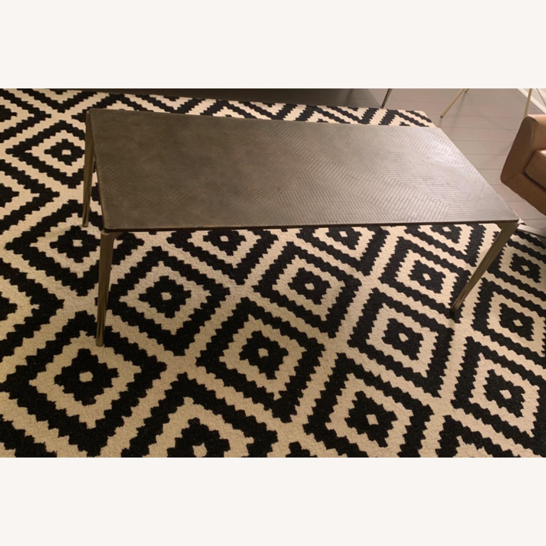 West Elm Bronze Coffee Table - image-4