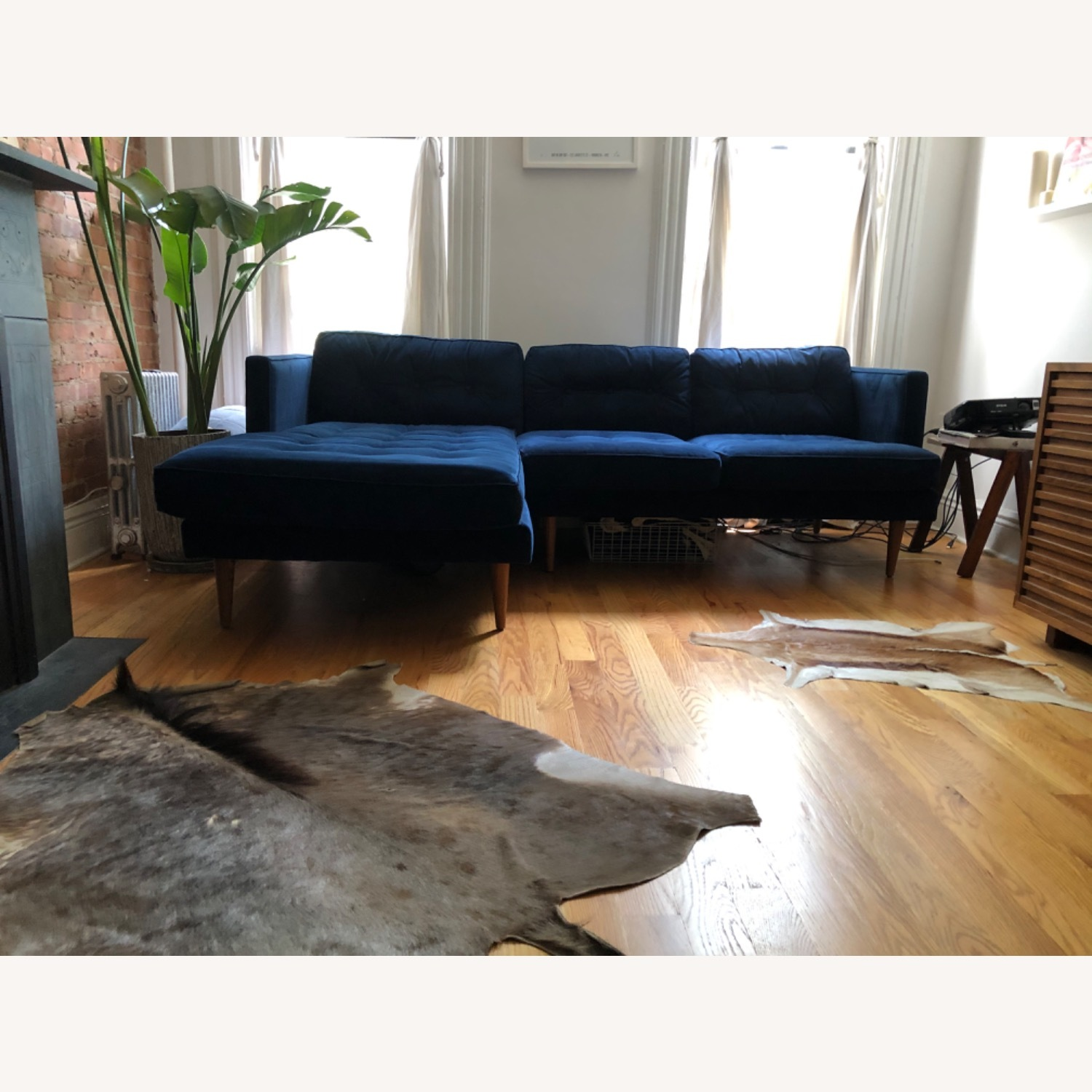 West Elm Like New Chaise Sectional - image-3