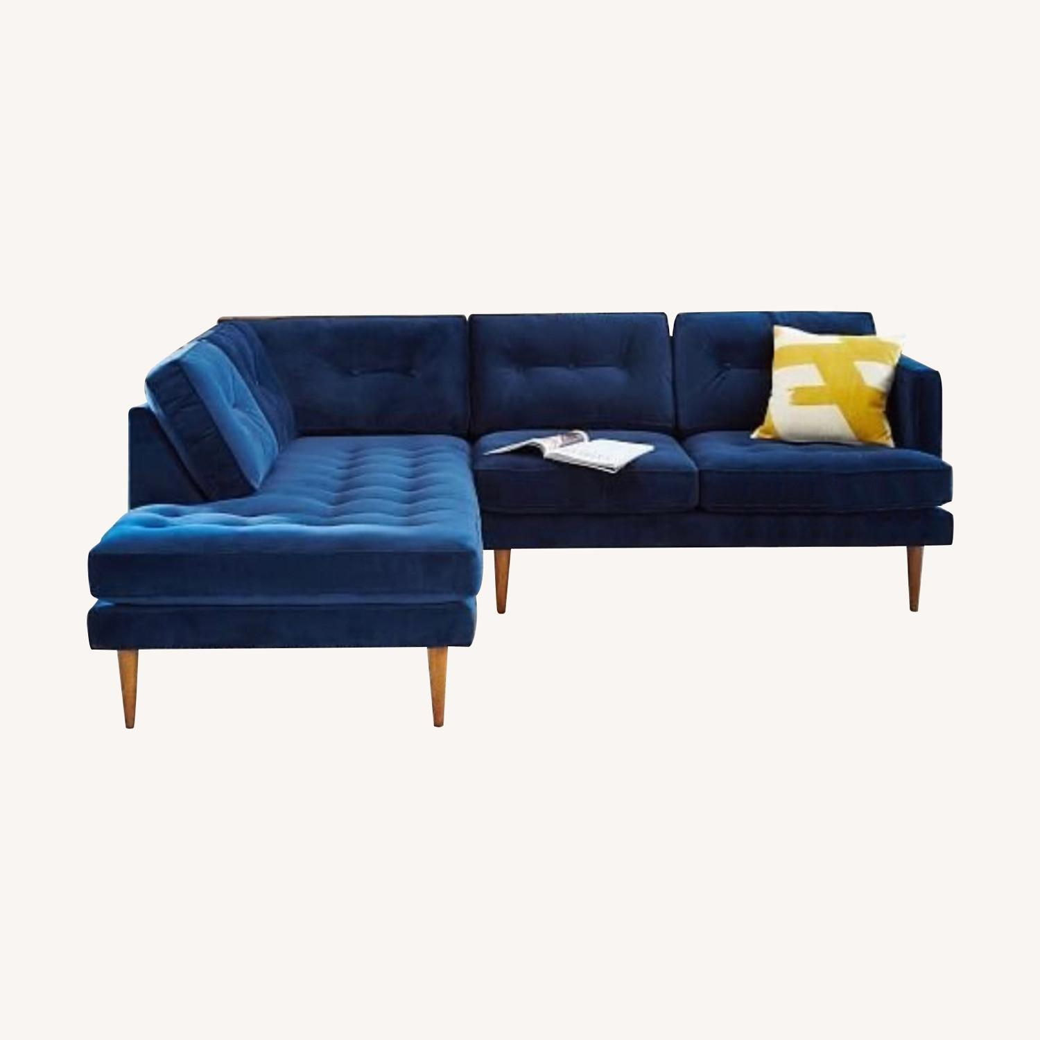 West Elm Like New Chaise Sectional - image-0