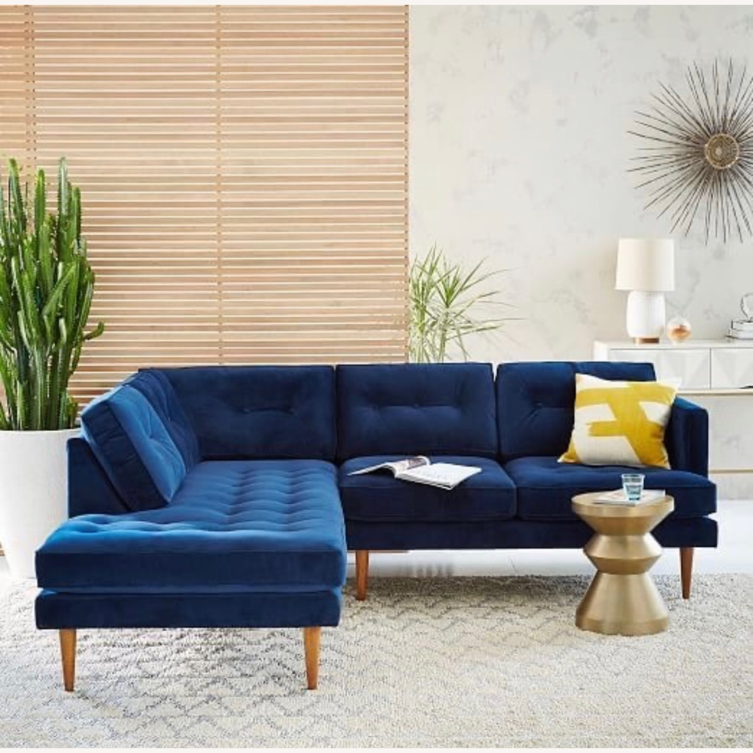 West Elm Like New Chaise Sectional - image-1