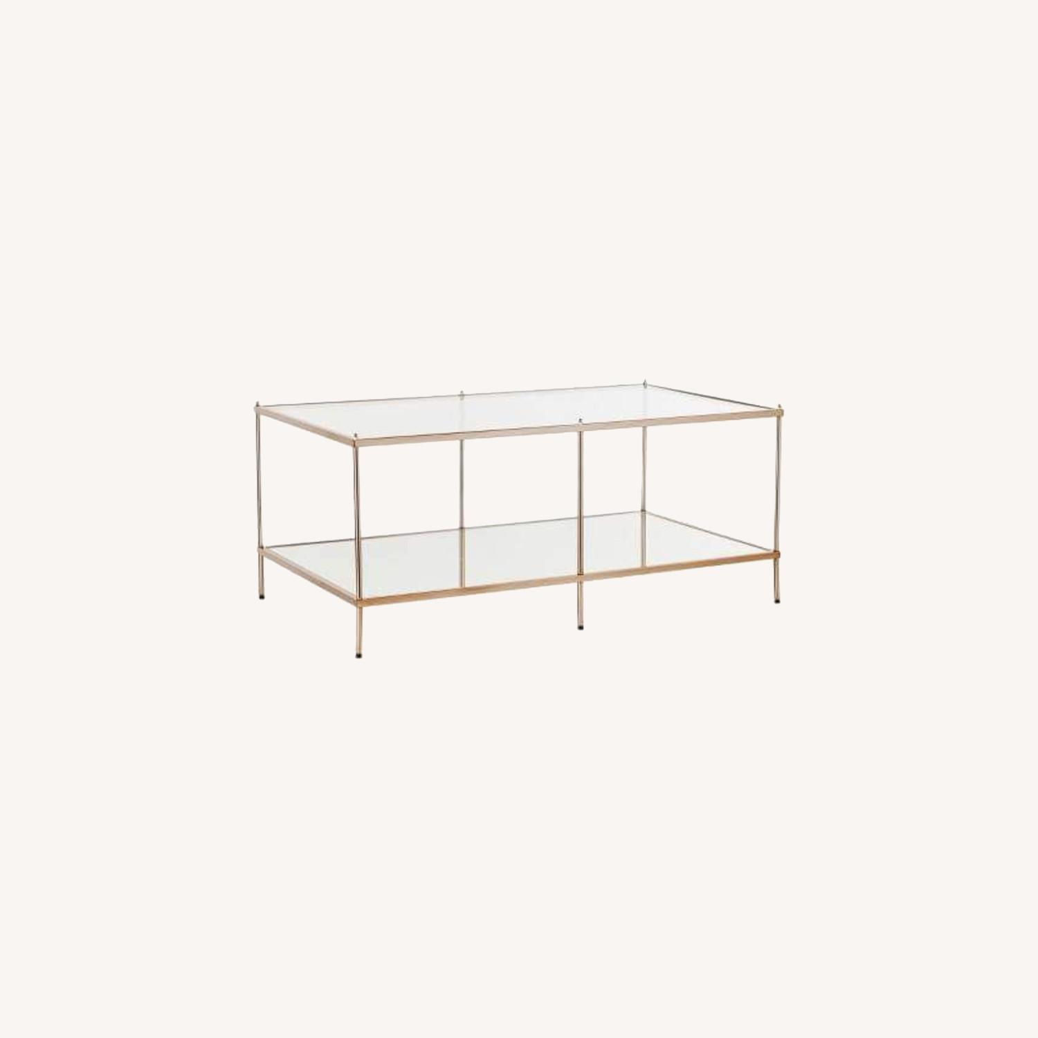 Gold Glass Coffee Table - image-0