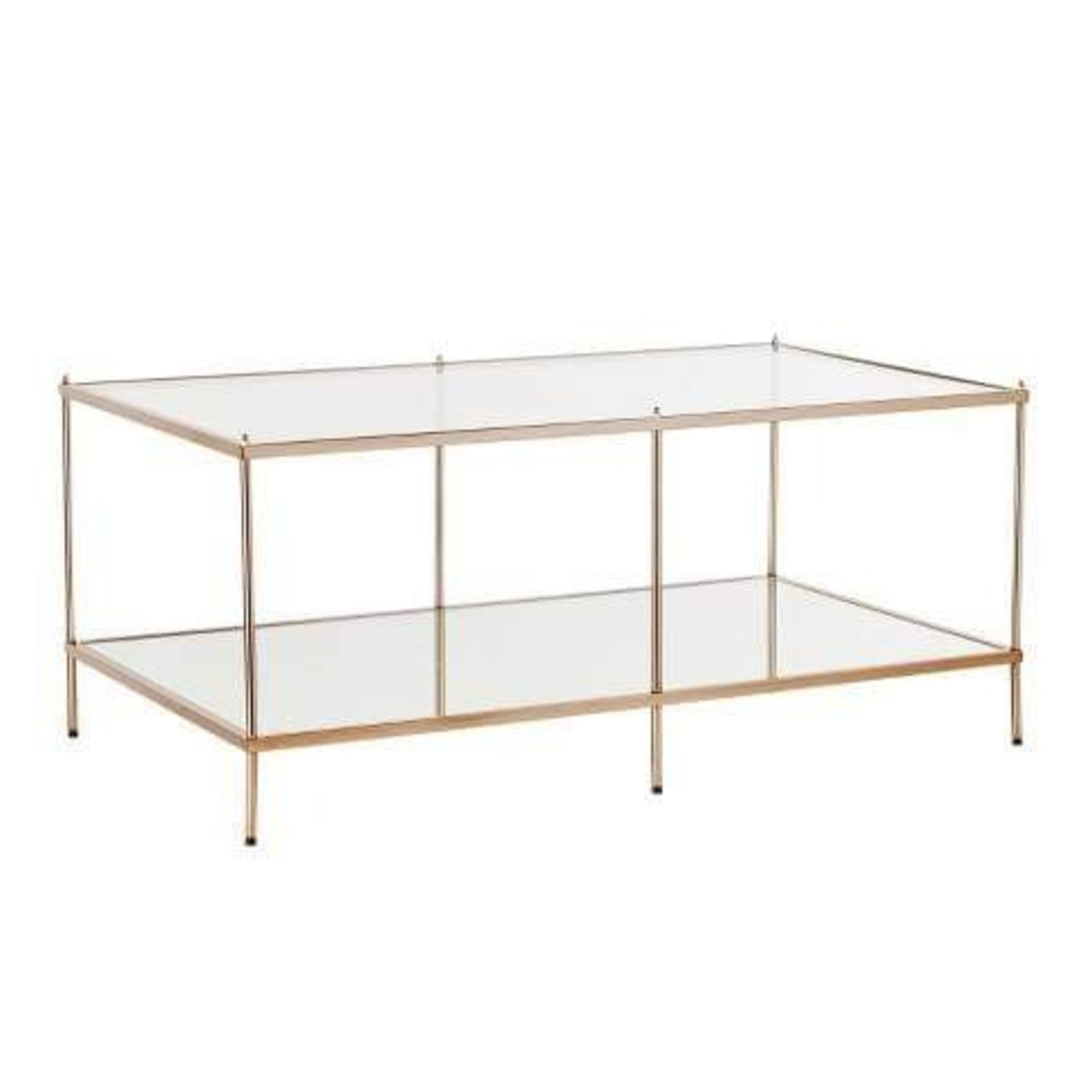 Gold Glass Coffee Table - image-3