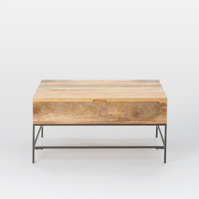 West Elm Industrial Storage Coffee Table - image-2