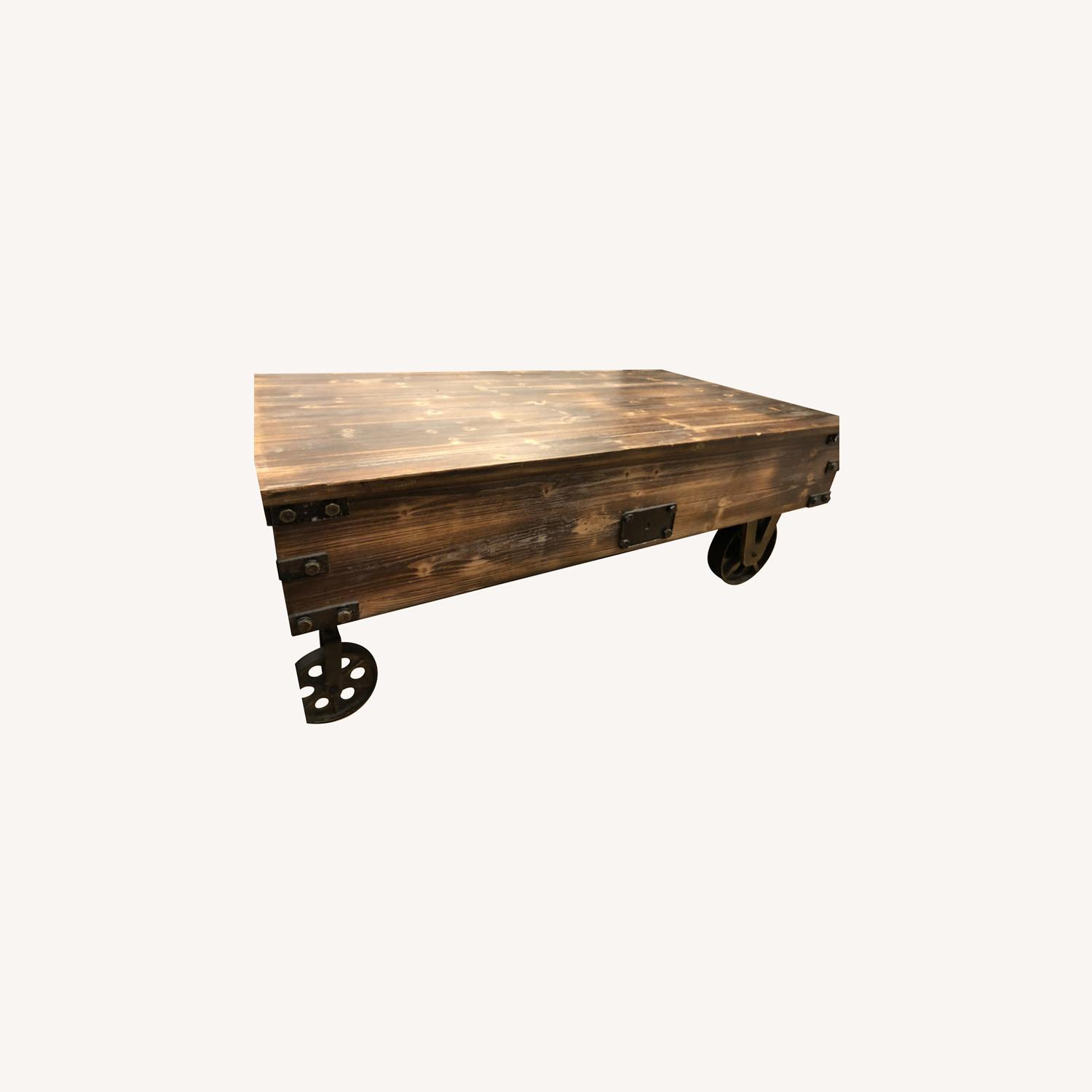 Rustic Wood Coffee Table - image-0