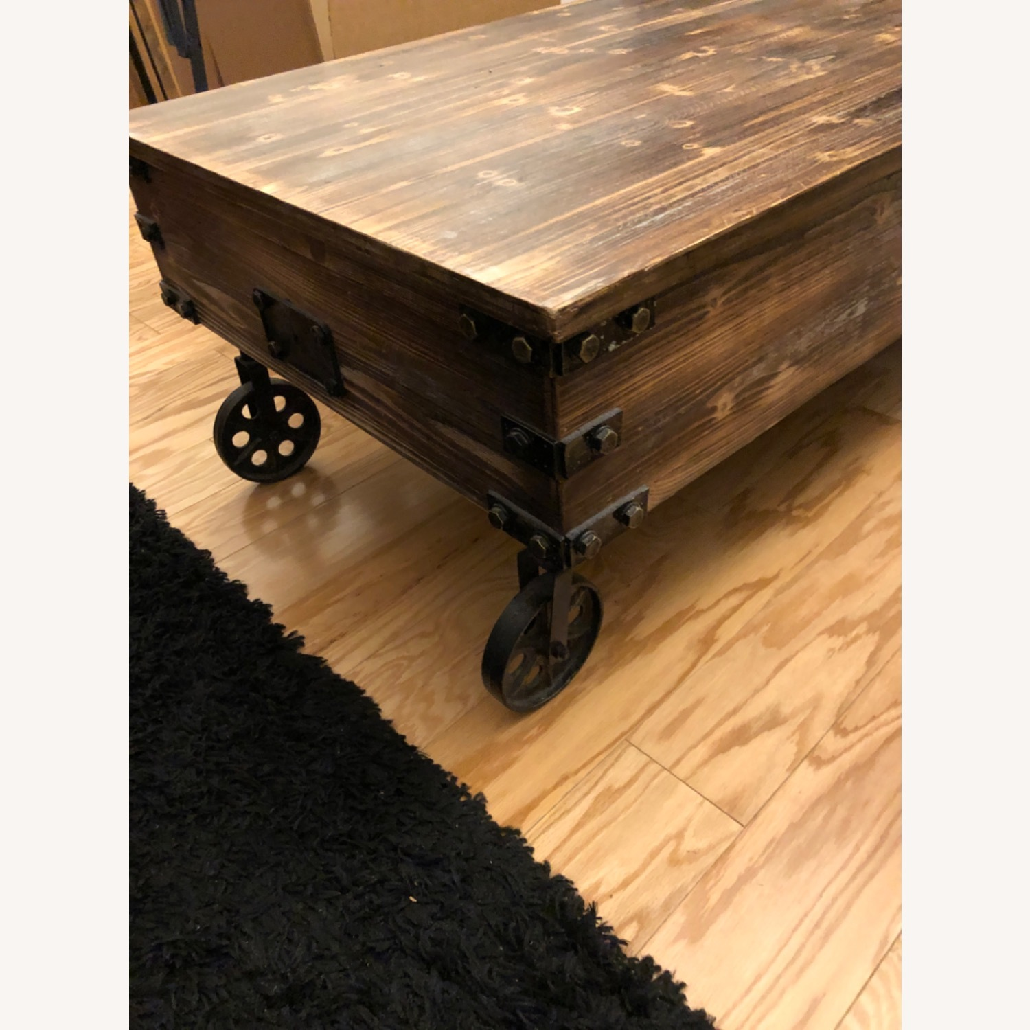 Rustic Wood Coffee Table - image-2