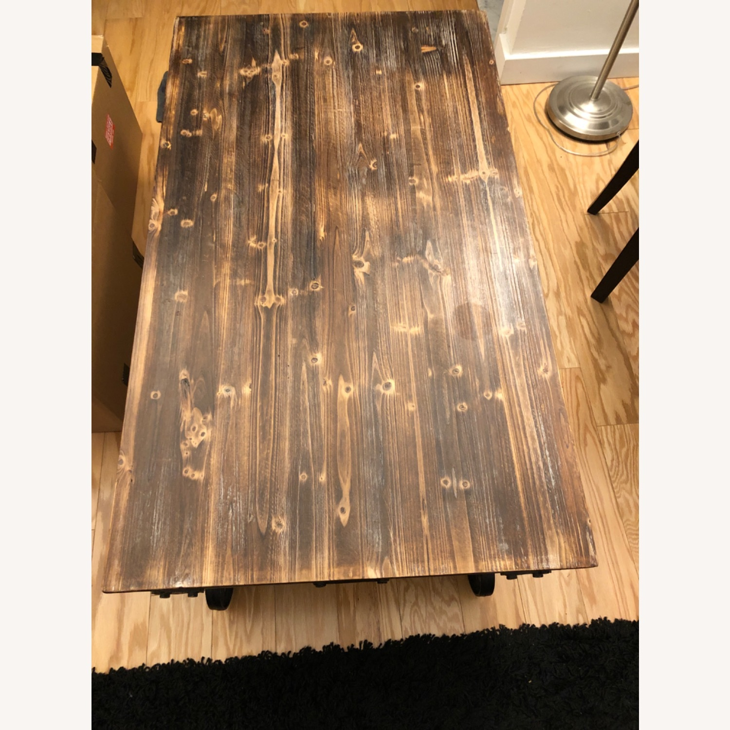 Rustic Wood Coffee Table - image-1