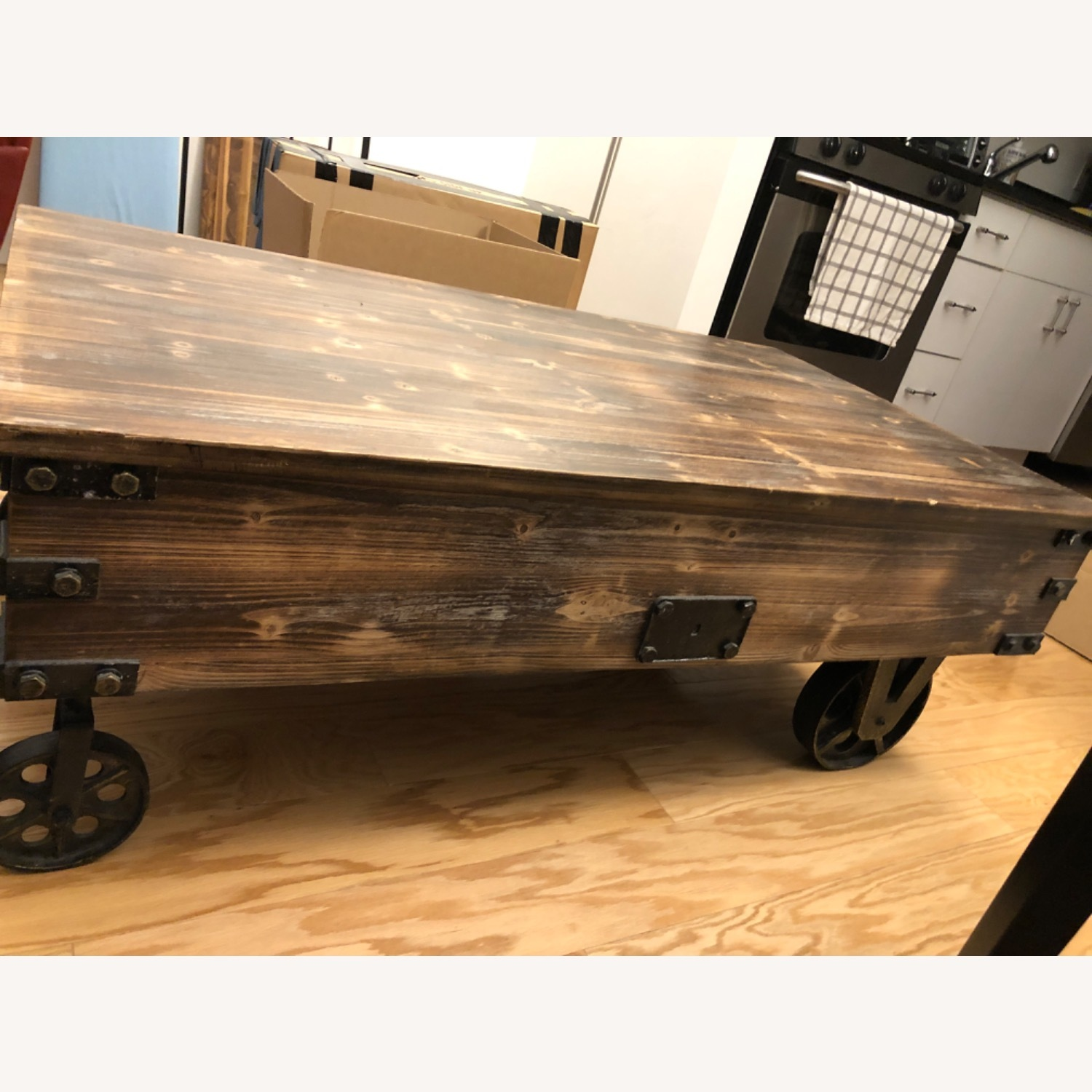 Rustic Wood Coffee Table - image-3