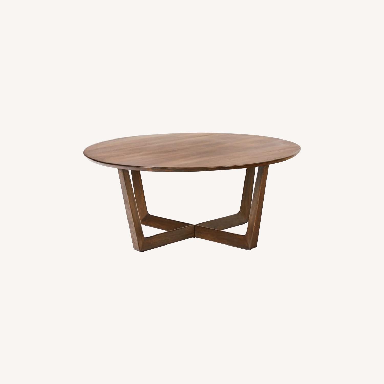 West Elm Stowe Coffee Table, Dark Walnut - image-0
