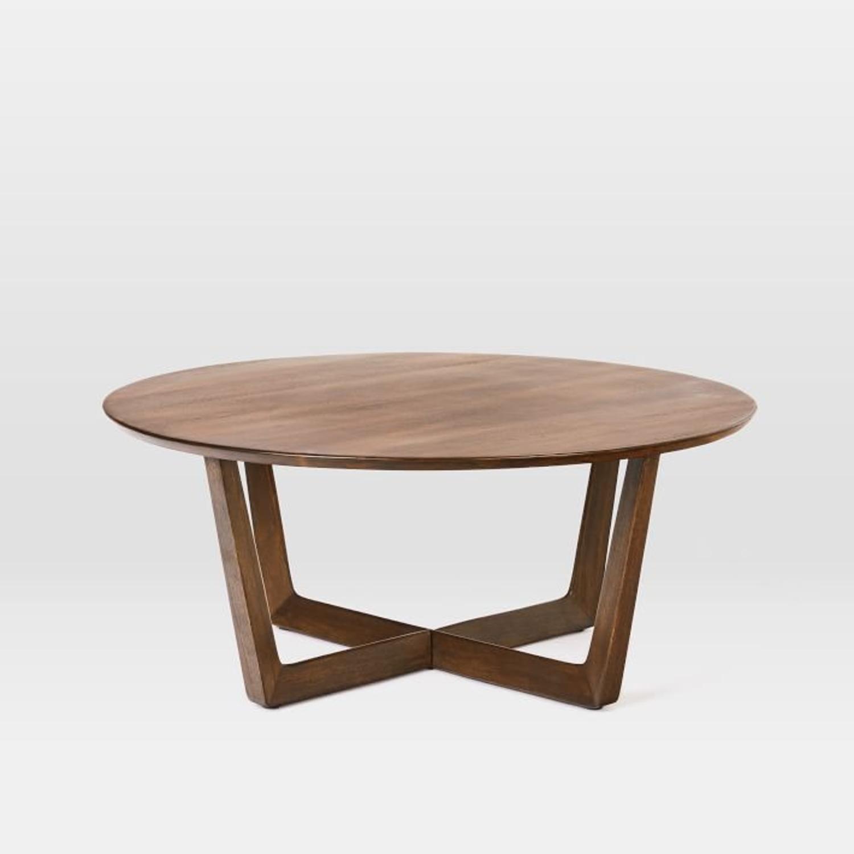 West Elm Stowe Coffee Table, Dark Walnut - image-1