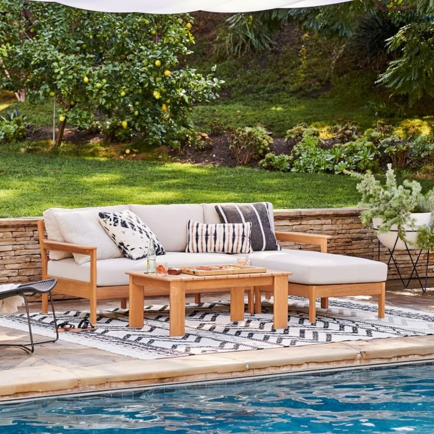 West Elm Playa Outdoor Coffee Table - image-3