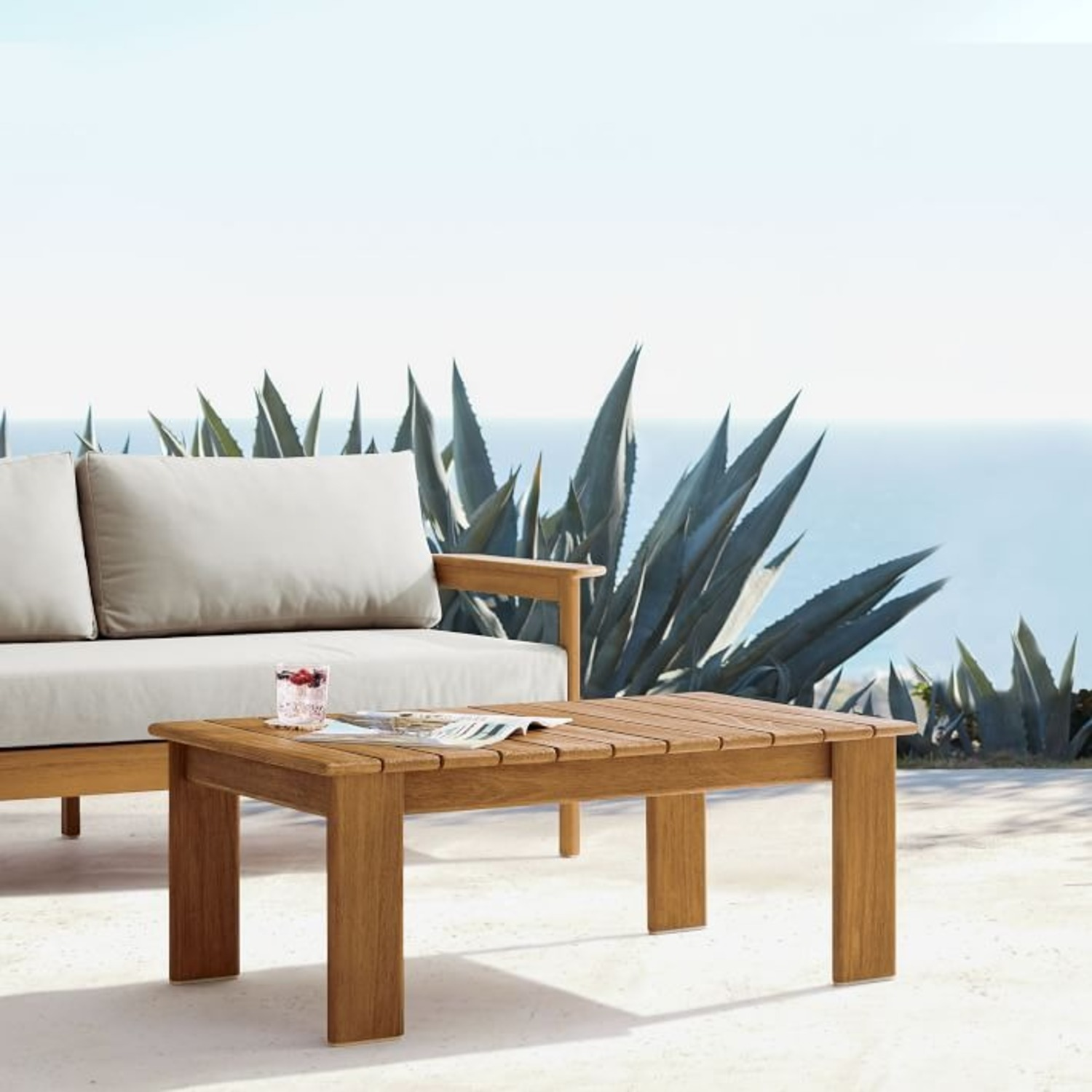 West Elm Playa Outdoor Coffee Table - image-2