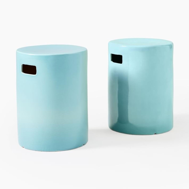 West Elm Ceramic Side Table - Round - image-3