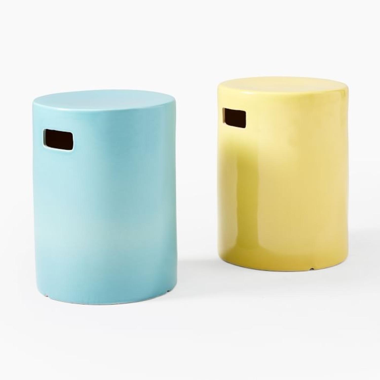West Elm Ceramic Side Table - Round - image-1