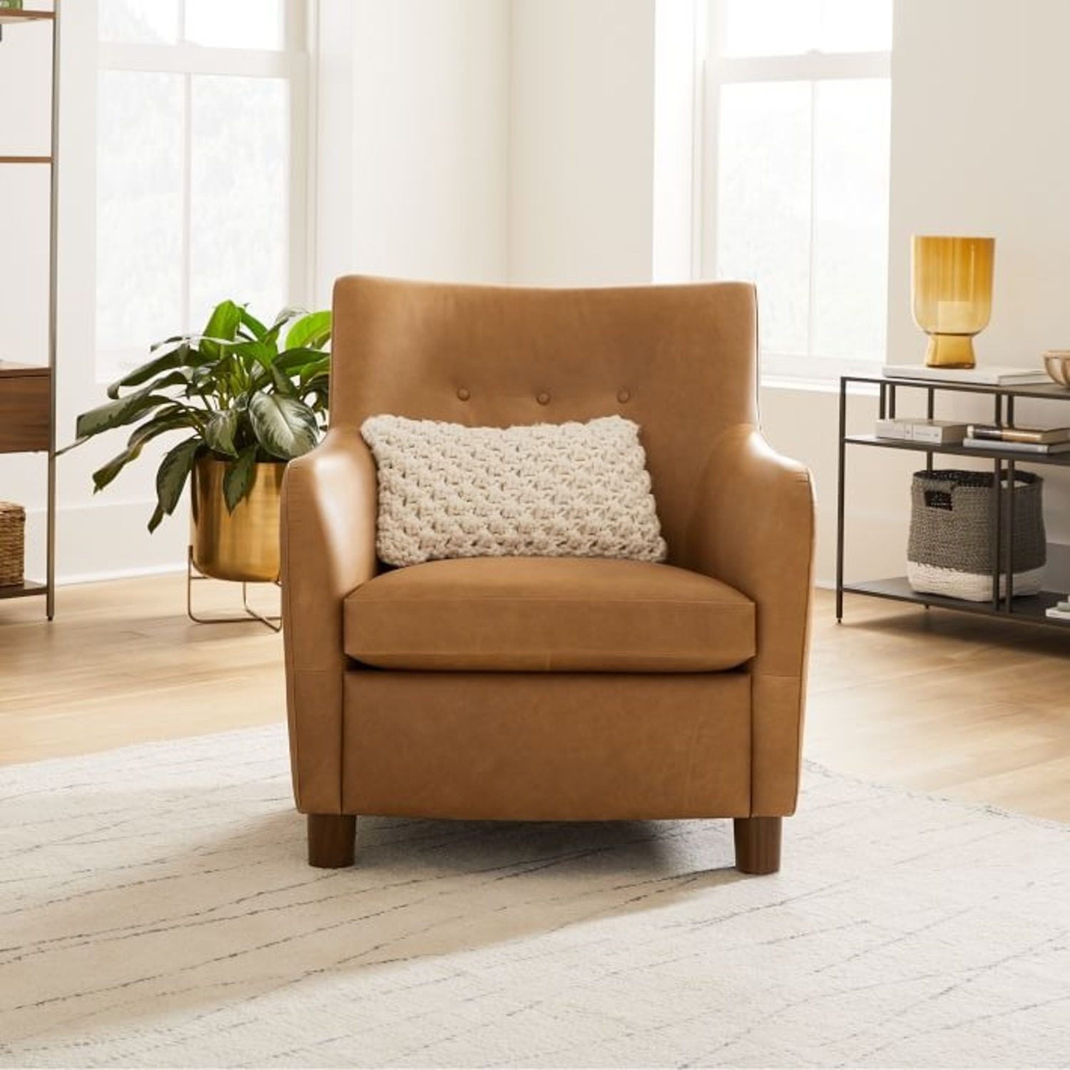 West Elm Teddy Chair + Matching Ottoman - image-4