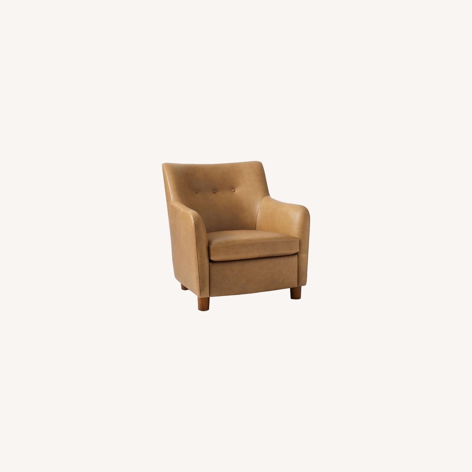 West Elm Teddy Chair + Matching Ottoman - image-0