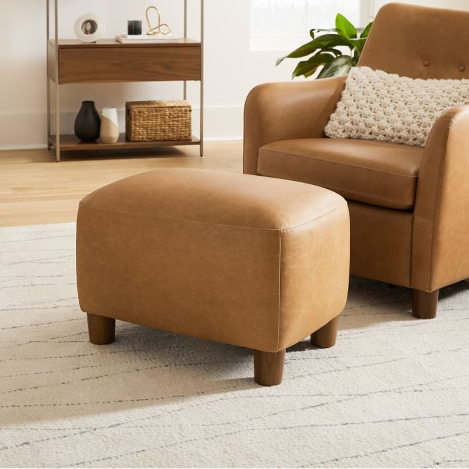 West Elm Teddy Chair + Matching Ottoman - image-3