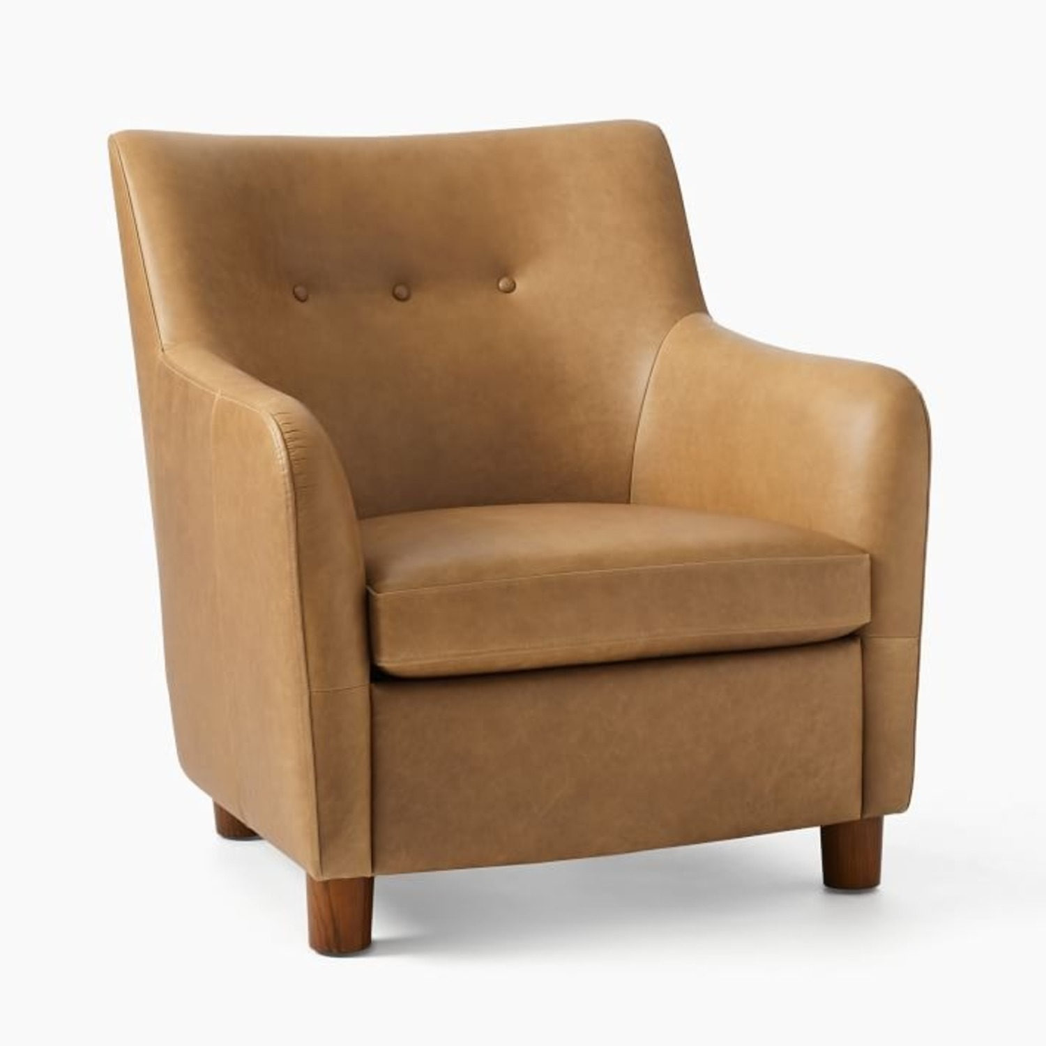 West Elm Teddy Chair + Matching Ottoman - image-1