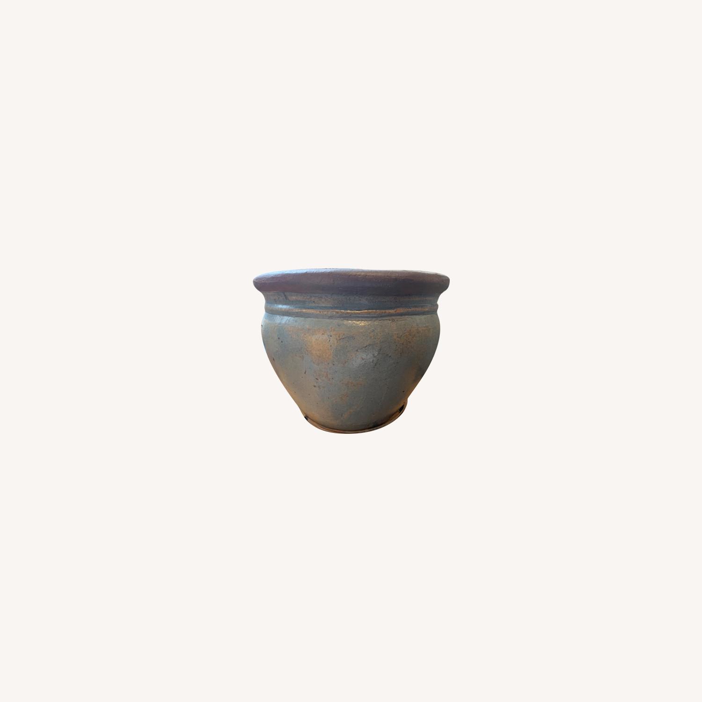 Large Ceramic Pot with Grapefruit Tree - image-0