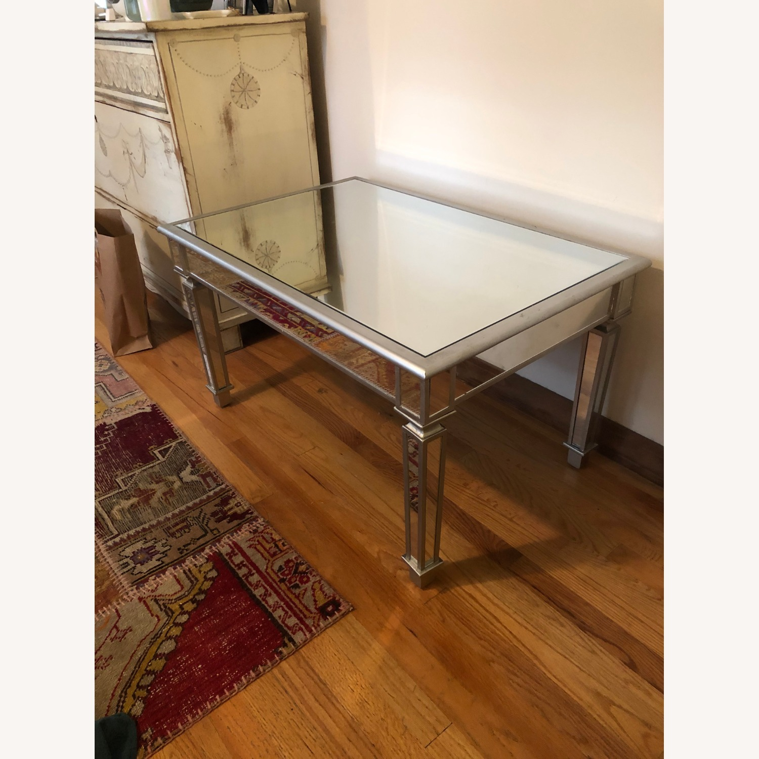 One Kings Lane Mirrored Coffee Table - image-1