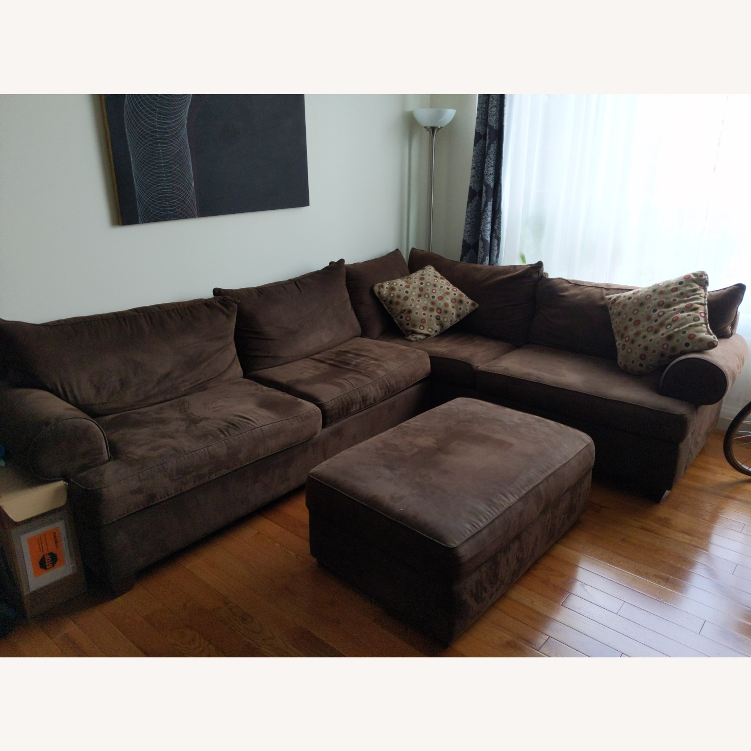 Raymour & Flanigan 2 Piece Sectional - image-1