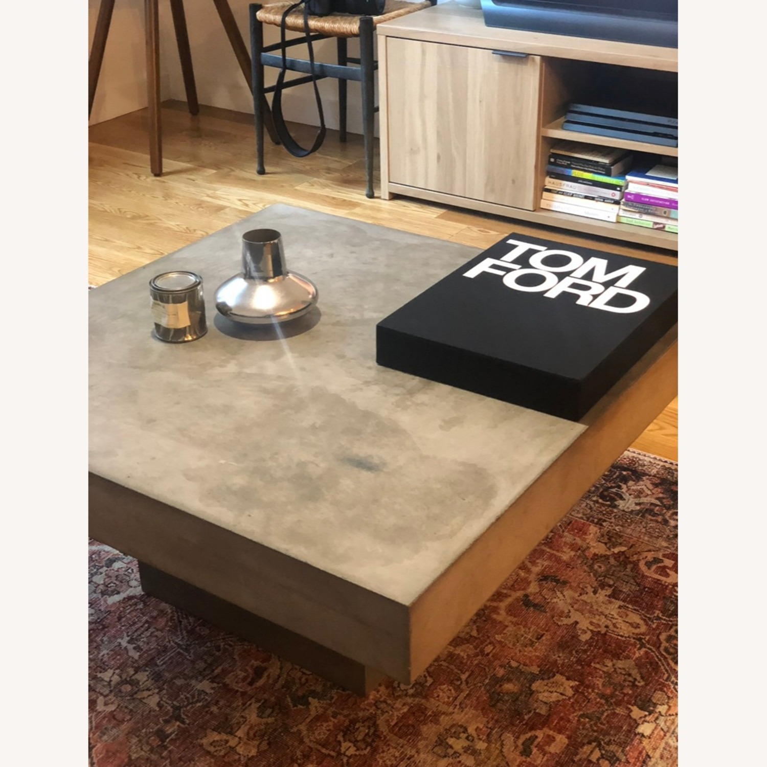 CB2 Cement Coffee Table - image-3