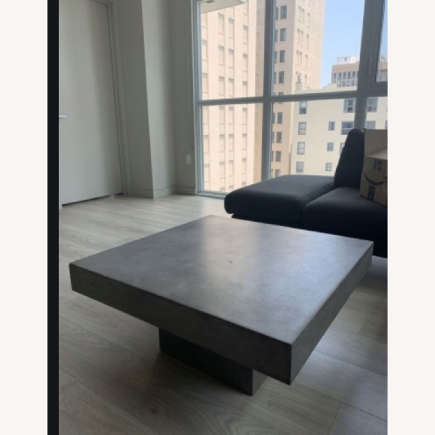 CB2 Cement Coffee Table - image-1