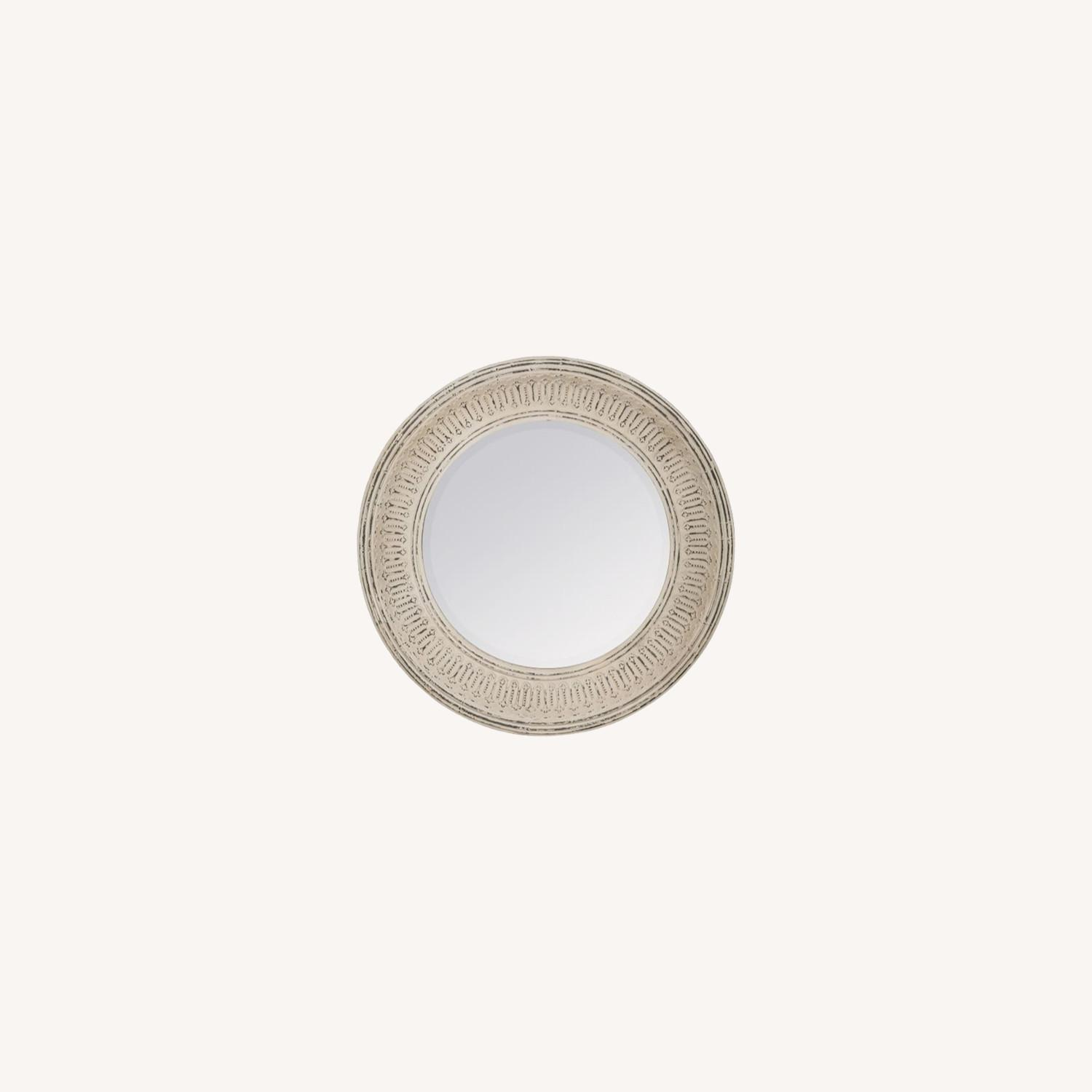 Pottery Barn Winslet Mirror Large Round White - image-0