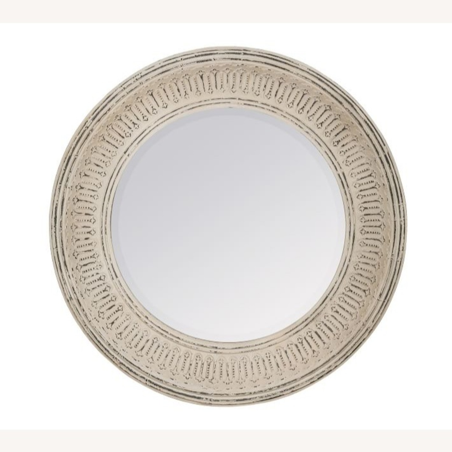 Pottery Barn Winslet Mirror Large Round White - image-1