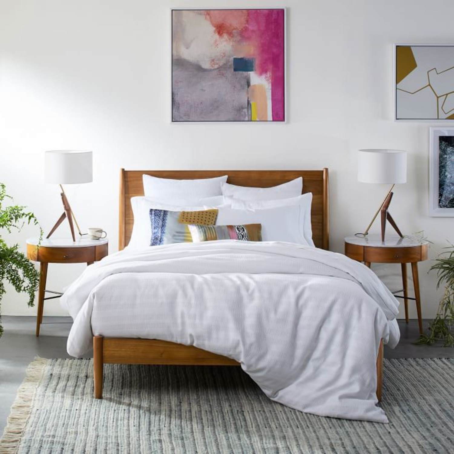 West Elm Mid Century Bed - Queen - image-3