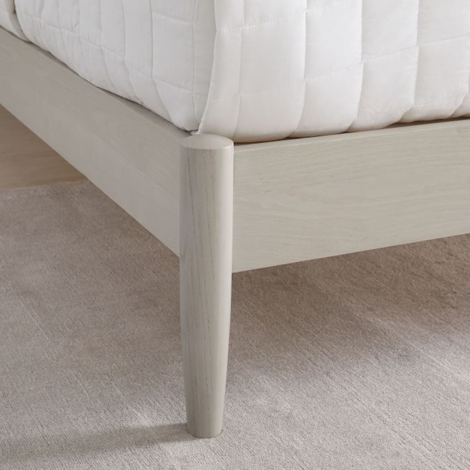 West Elm Mid Century Bed- Pebble, King - image-2