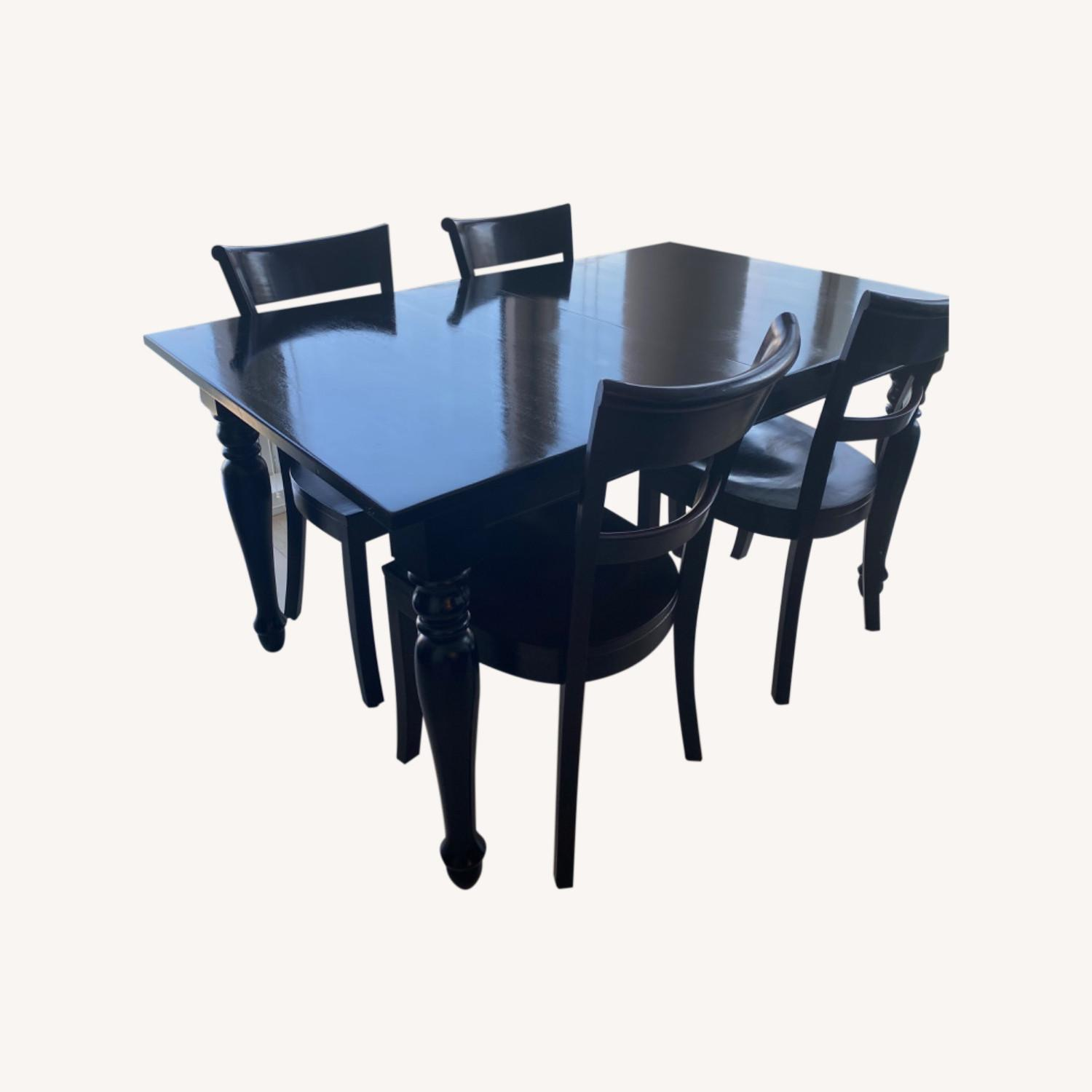 Crate & Barrel Kipling Table and 4 Chairs - image-0