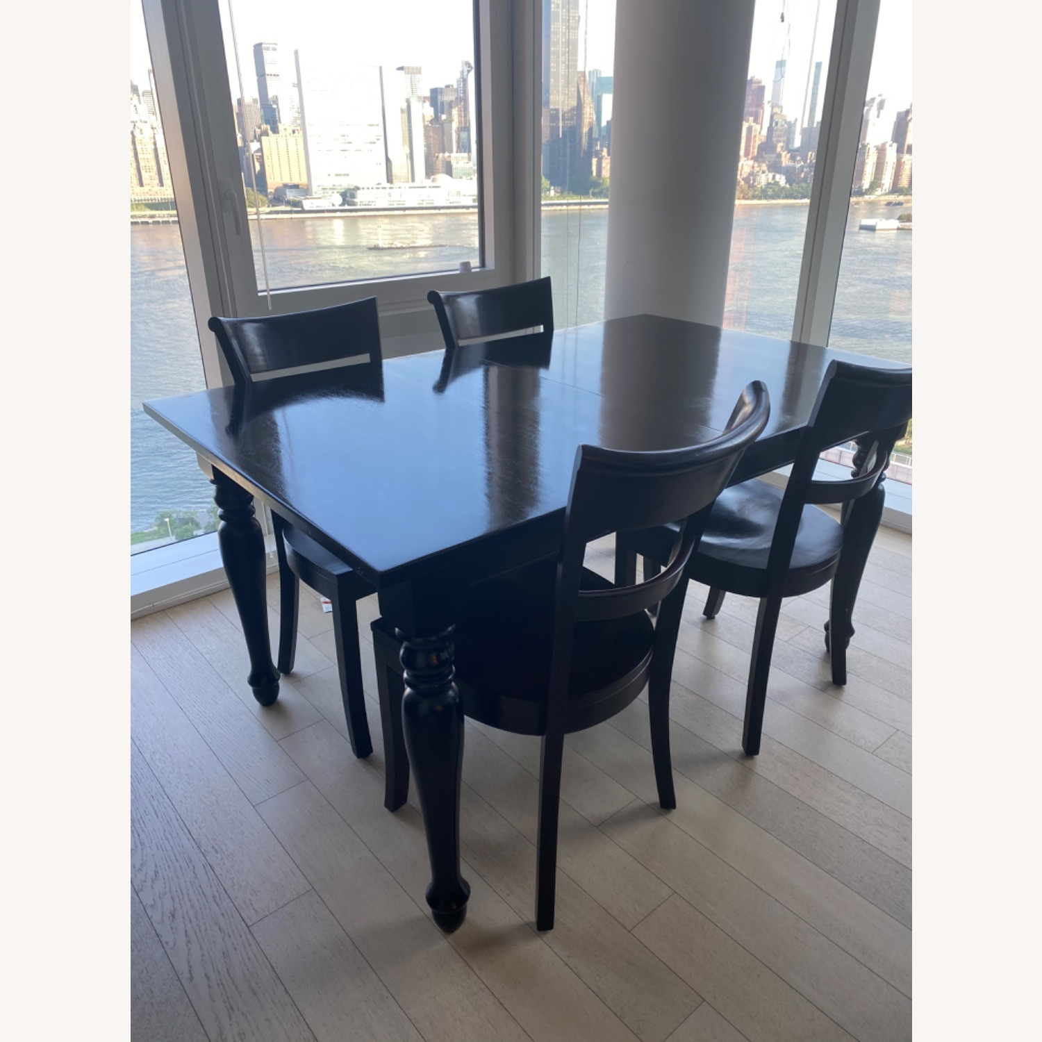 Crate & Barrel Kipling Table and 4 Chairs - image-1