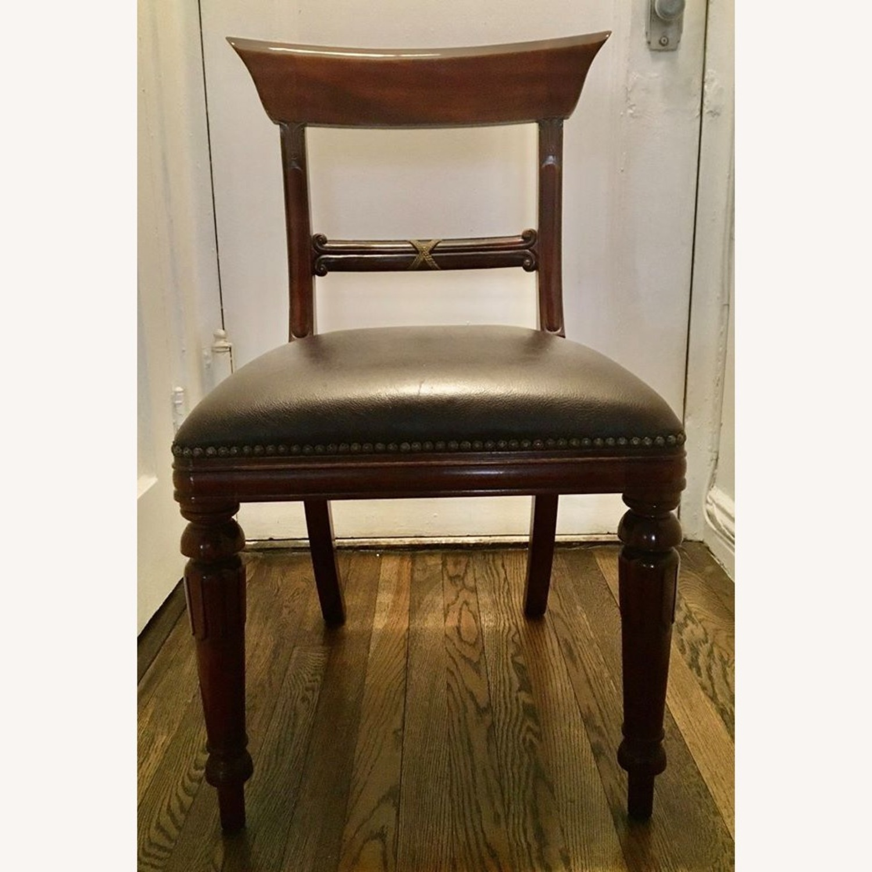 2 Maitland Smith Mahogany Chairs - image-2