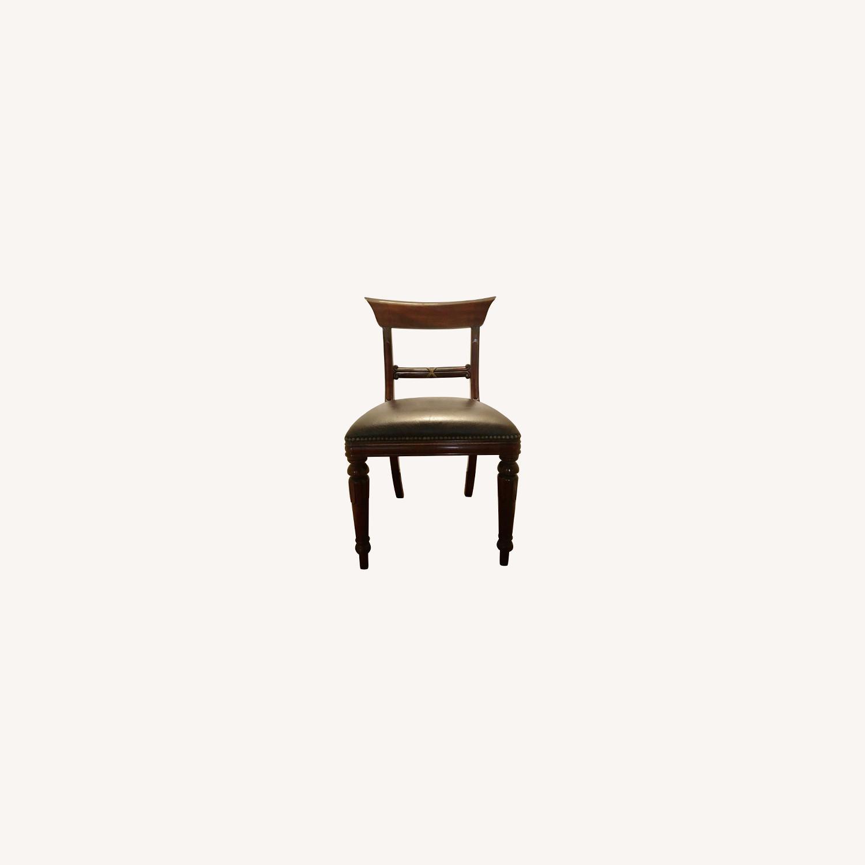 2 Maitland Smith Mahogany Chairs - image-0