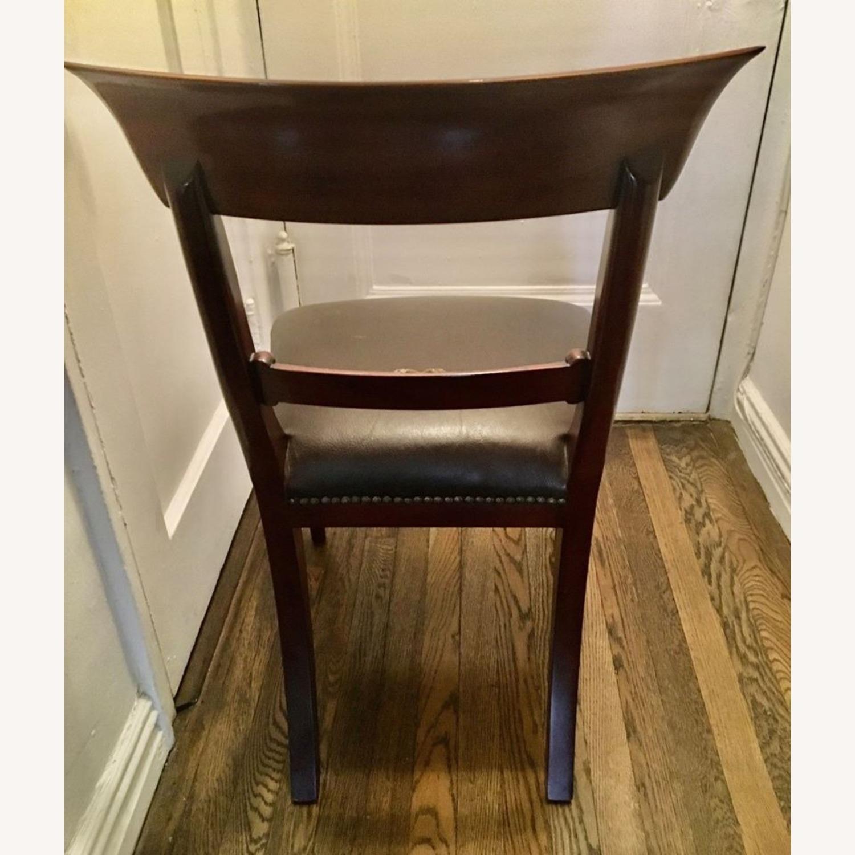 2 Maitland Smith Mahogany Chairs - image-4