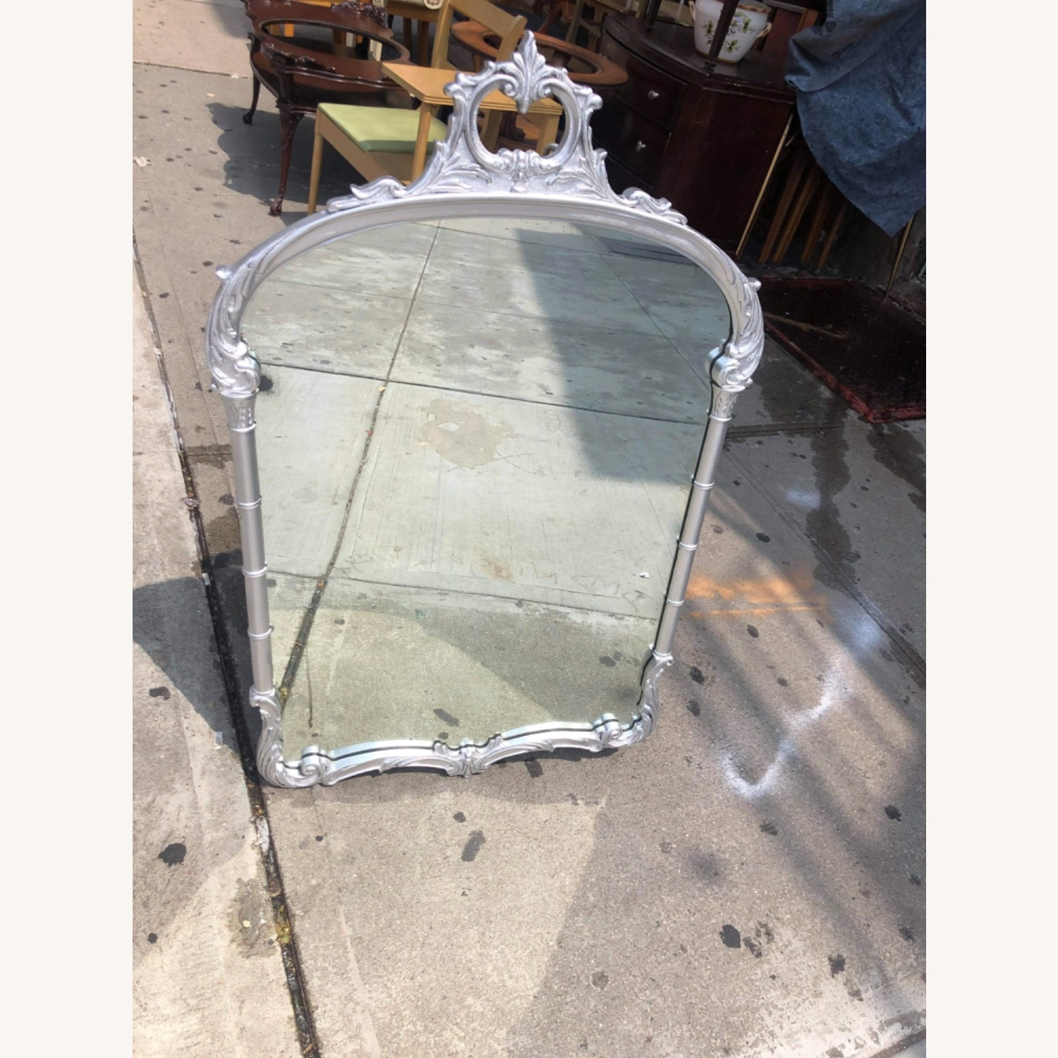 Antic1920s Silver Painted Wooden Framed Mirror - image-13