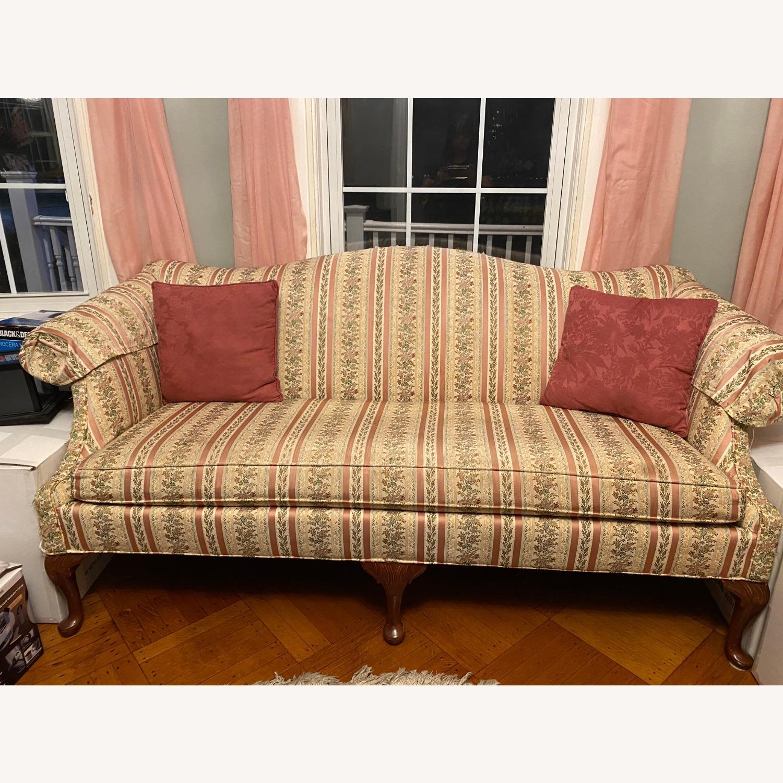 Antique/Vintage Floral 2 Seater Sofa - image-1