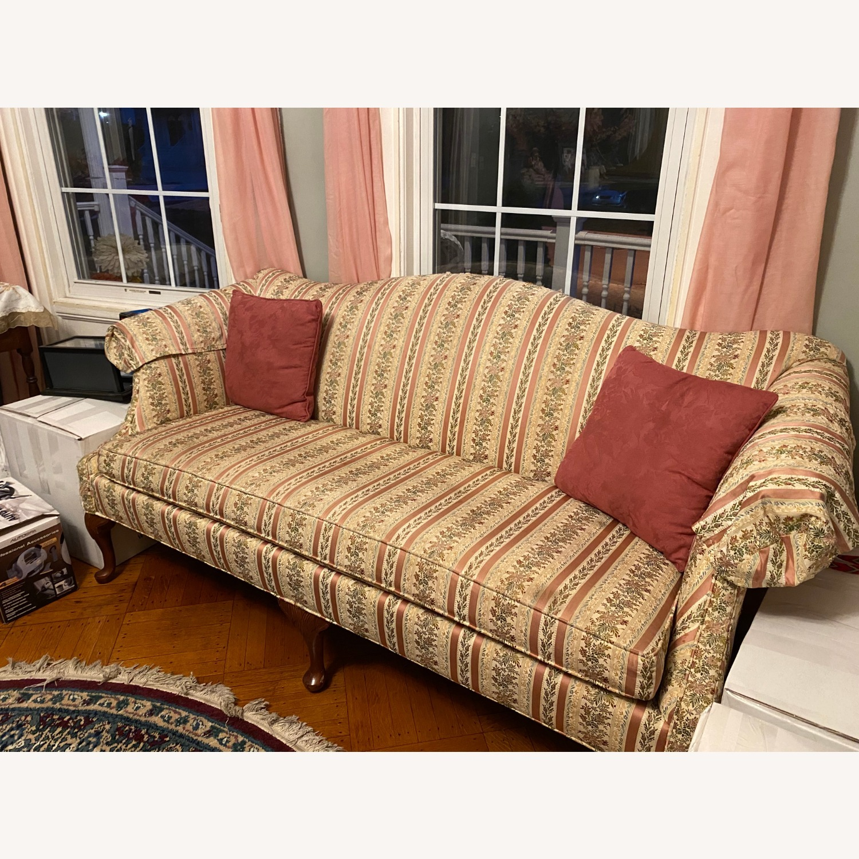 Antique/Vintage Floral 2 Seater Sofa - image-4