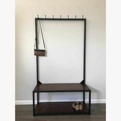 Used World Market Metal and Wood Entryway Bench for sale on AptDeco